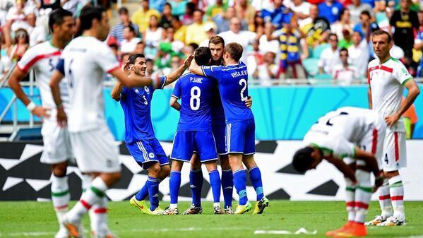 البوسنة تفوز وتنهي أحلام إيران بالتأهل
