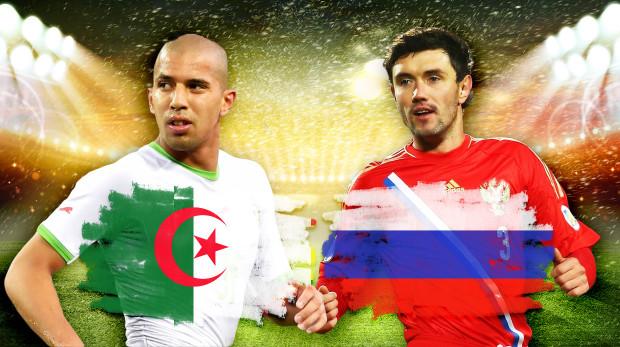 تشكيلتا الجزائر وروسيا المتوقعتان