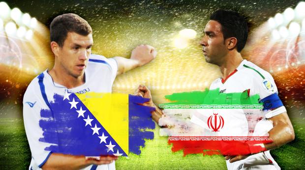 تشكيلتا إيران والبوسنة المتوقعتان