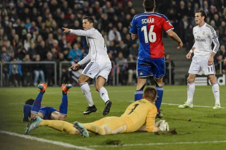 ريال مدريد يتغلب على بازل بهدف رونالدو