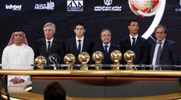 ريال مدريد الأبرز في حفل جوائز غلوب سوكو بدبي
