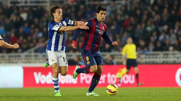 ريال سوسييداد يفوز على برشلونة