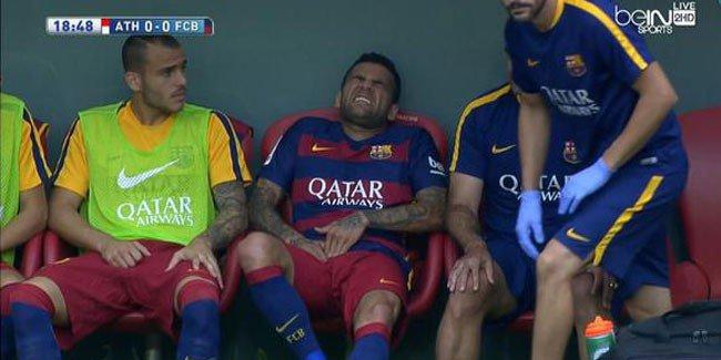 بالفيديو: إصابة قوية لداني ألفيش تزيد معاناة برشلونة