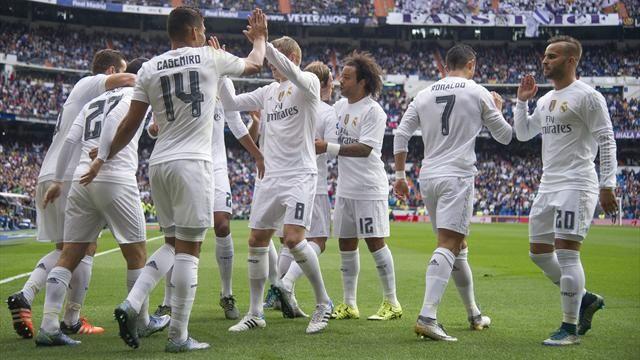 بالفيديو: ريال مدريد ينفرد بالصدارة بعد فوزه على لاس بالماس
