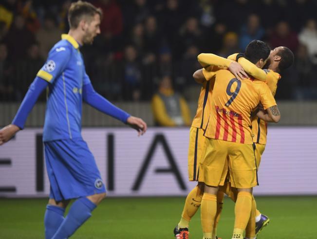 بالفيديو: برشلونة يعود بثنائية لراكيتتش أمام باتي بوريسوف