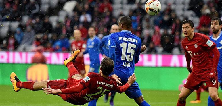 بالفيديو: البايرن يهزم دارمشتات بثلاثية في الدوري الألماني