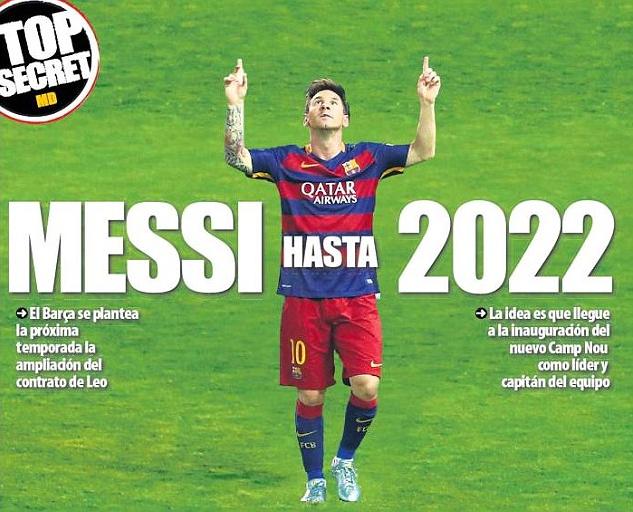 ميسي في طريقه للتجديد مع برشلونة حتى 2022