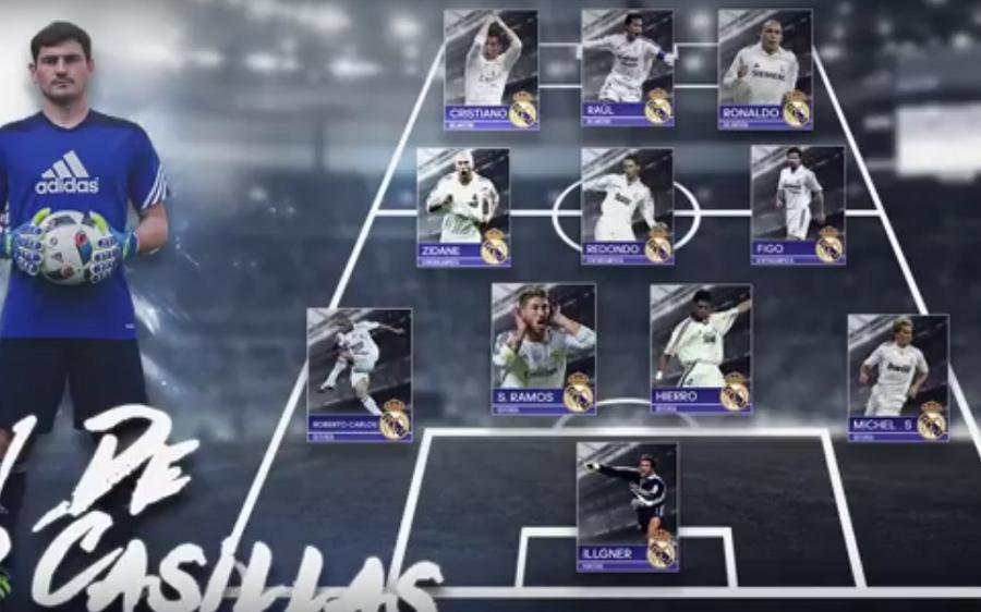 شاهد … كاسياس يختار تشكيلة أحلام ريال مدريد