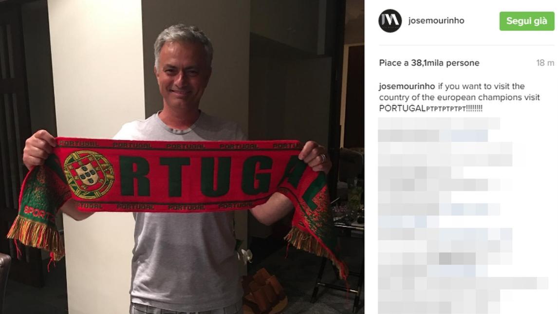 بالصور: مورينيو يحتفل رفقة عائلته بفوز منتخب بلاده بلقب اليورو