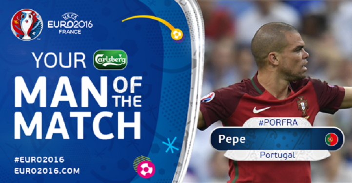 """رسمياً … """"بيبي"""" رجل المباراة النهائية ليورو 2016"""