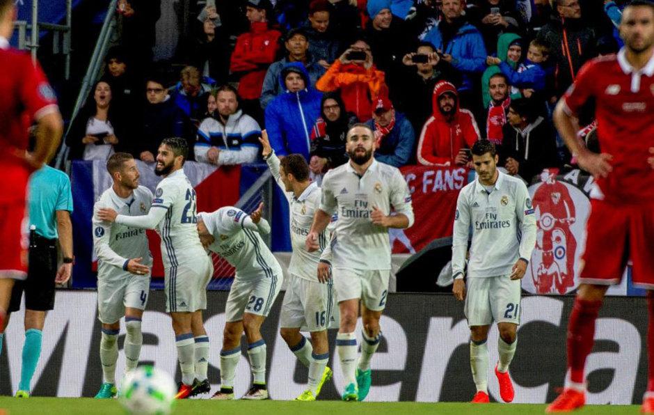 بالفيديو: ريال مدريد بطلاً لكأس السوبر الأوروبي على حساب إشبيلية