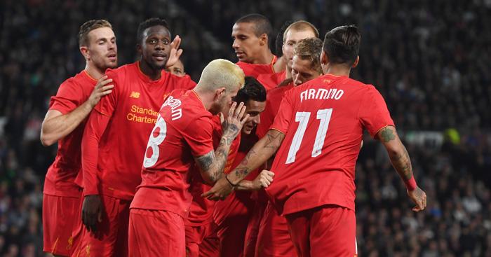 بالفيديو: ليفربول يتفوق على ديربي كاونتي بثلاثية في كأس الرابطة الإنجليزية