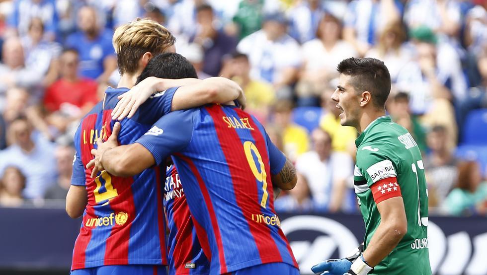 بالفيديو: برشلونة يسحق ليجانيس بخماسية في الدوري الإسباني