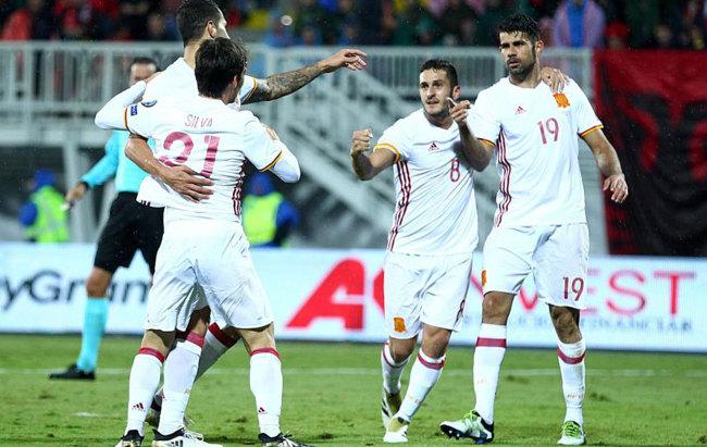بالفيديو: إسبانيا تتخطى إلبانيا في تصفيات كأس العالم 2018