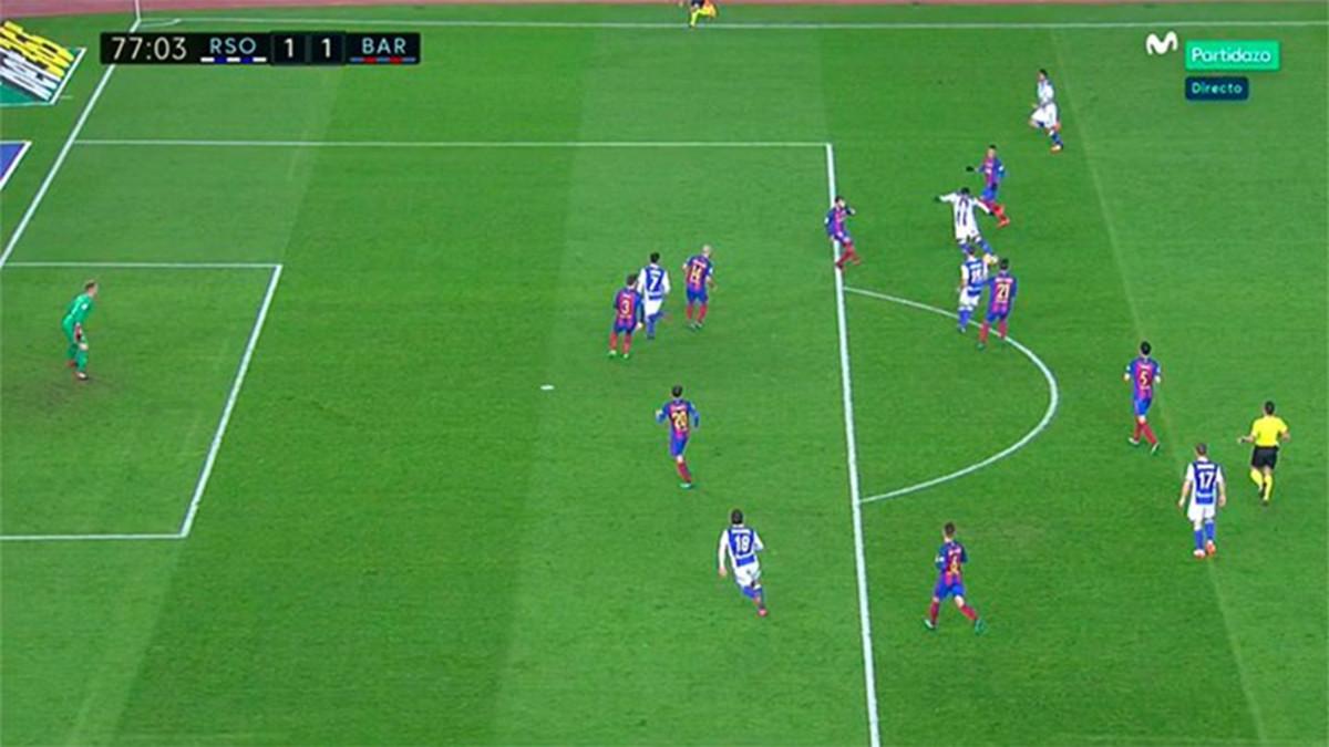 فيديو: هل أنقذ الحكم برشلونة من الهزيمة أمام ريال سوسيداد ؟