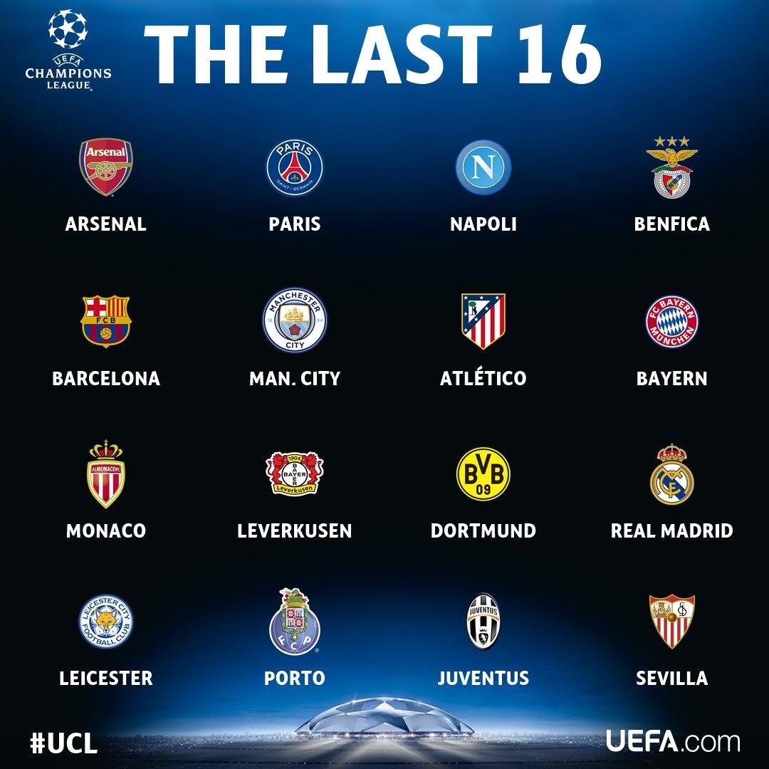 تعرف على الفرق المتأهلة للدور الـ 16 بدوري أبطال أوروبا
