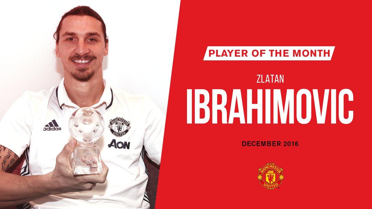 رسمياً … إبراهيموفيتش أفضل لاعب في مانشستر يونايتد بشهر ديسمبر