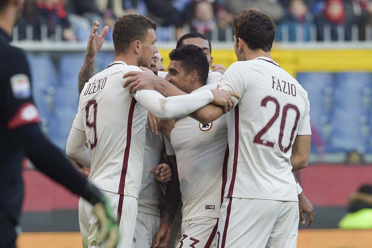 بالفيديو: روما يهزم جنوى بهدف دون رد في منافسات الدوري الإيطالي