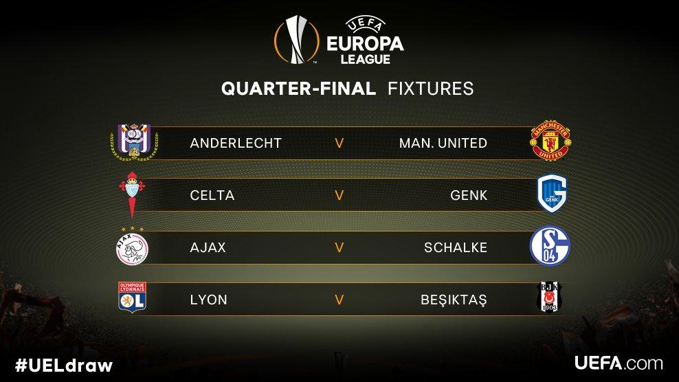 عاجل … قرعة دور الـ 8 من بطولة الدوري الأوروبي
