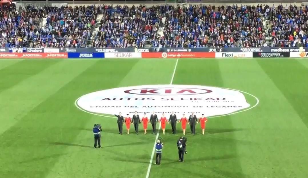 شاهد  … دبكة أردنية بإفتتاح مباراة ريال مدريد وليجانيس