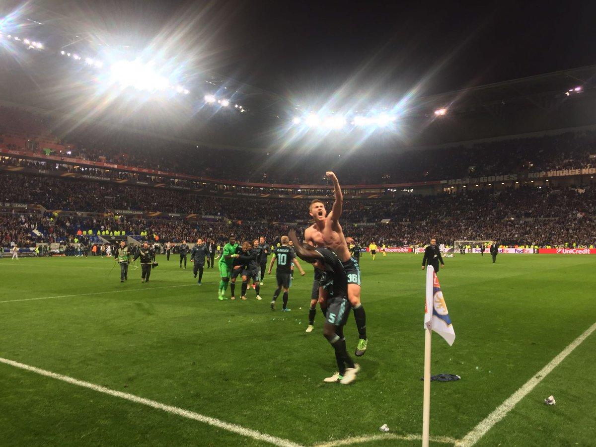 أهداف مباراة ليون و أياكس أمستردام 3-1 الدوري الأوروبي