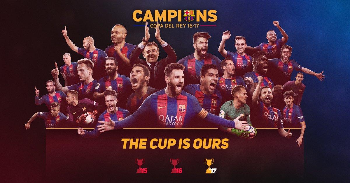 بالفيديو: برشلونة بطلاً لكأس إسبانيا على حساب ديبورتيفو ألافيس