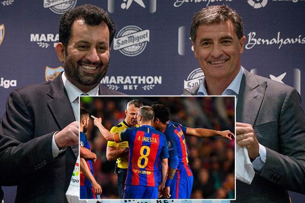 صورة … رئيس نادي ملقه يهدد برشلونة على الملىء