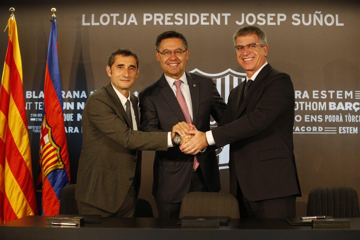 بالصور … برشلونة يقدم المدرب فالفيردي لوسائل الإعلام