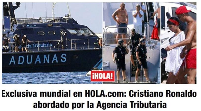 بالصور … الشرطة تداهم يخت رونالدو خلال العطلة الصيفية