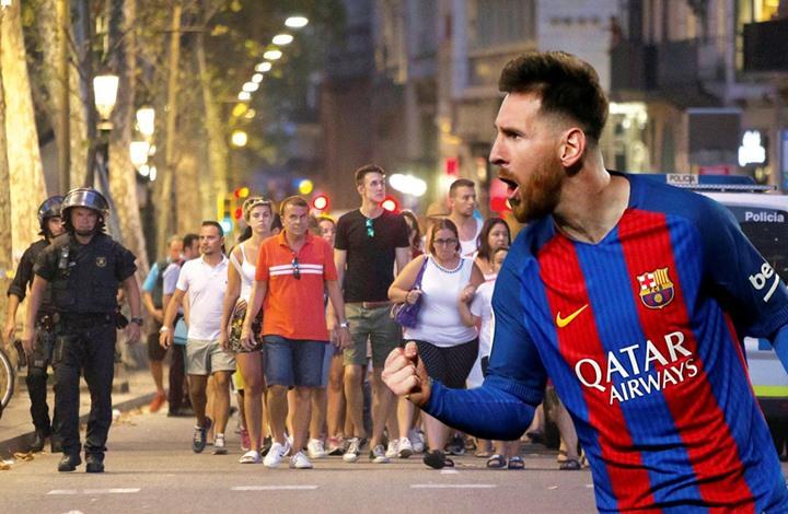 صورة … ميسي يتضامن مع ضحايا برشلونة بطريقته الخاصة