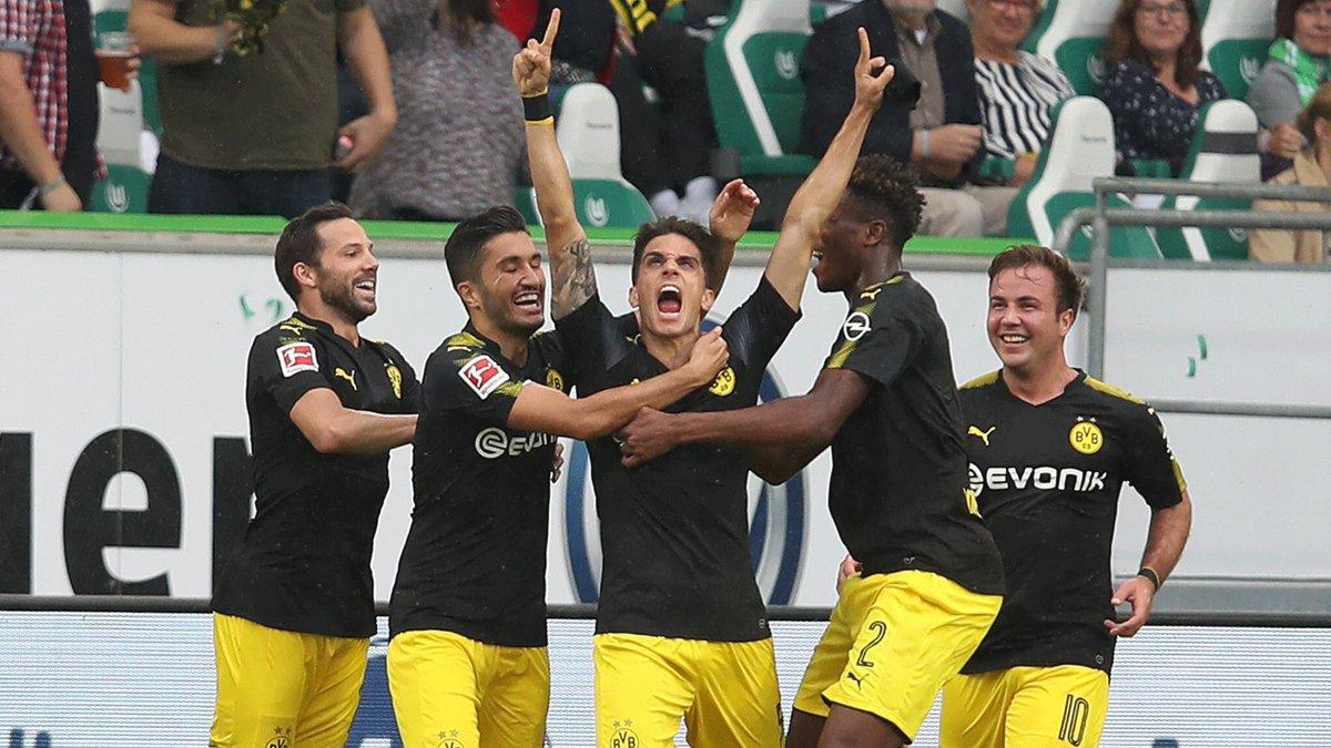 أهداف مباراة بروسيا دورتموند و فولفسبورغ 3-1 الدوري الألماني