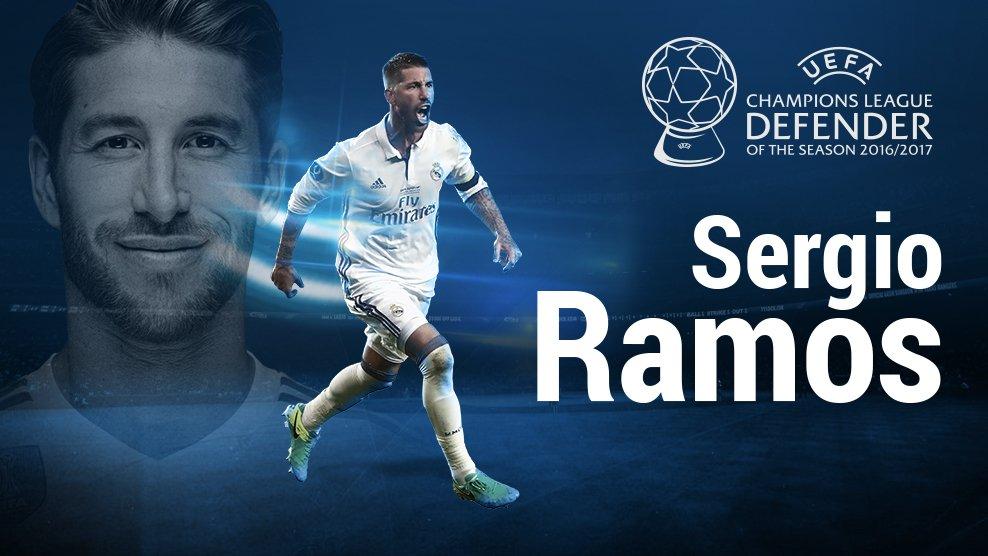 رسمياً … سيرجيو راموس أفضل مدافع أوروبي في عام 2017
