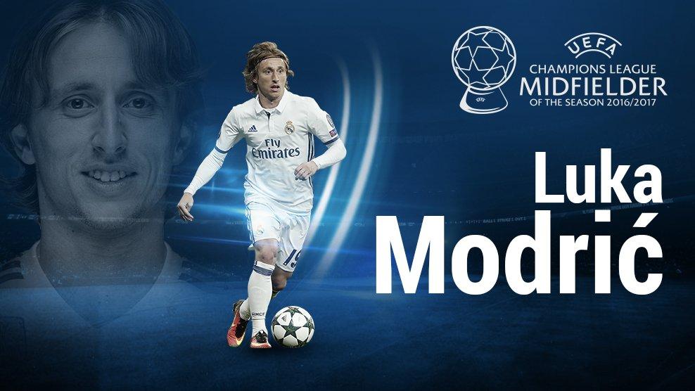 رسمياً … لوكا مودريتش أفضل لاعب أوروبي في عام 2017