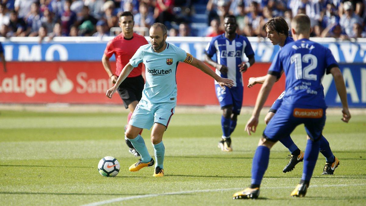 أهداف مباراة برشلونة وديبورتيفو ألافيس 2-0 الدوري الإسباني