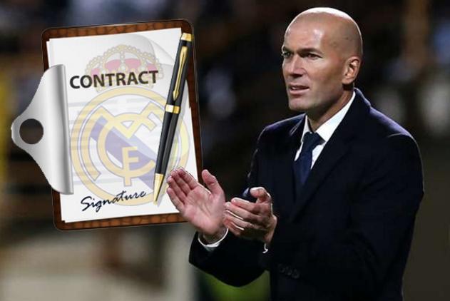ريال مدريد يتوصل لاتفاق مع زيدان لتجديد عقده
