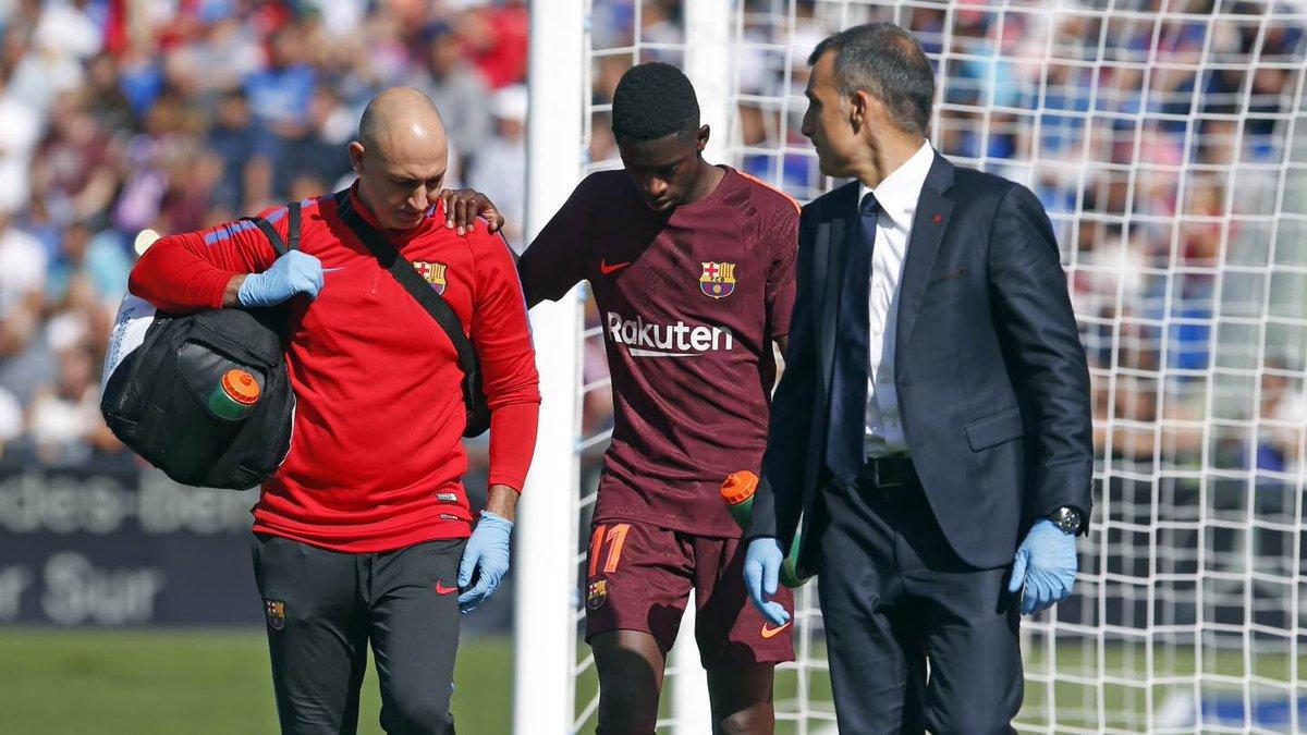 شاهد … إصابة ديمبلي تهدده بالغياب عن برشلونة لمدة 4 اسابيع