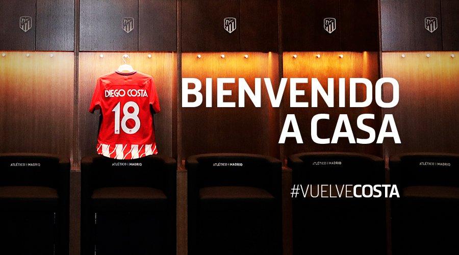 رسمياً … أتلتيكو مدريد يكمل صفقة كوستا ويعلن عن رقم اللاعب