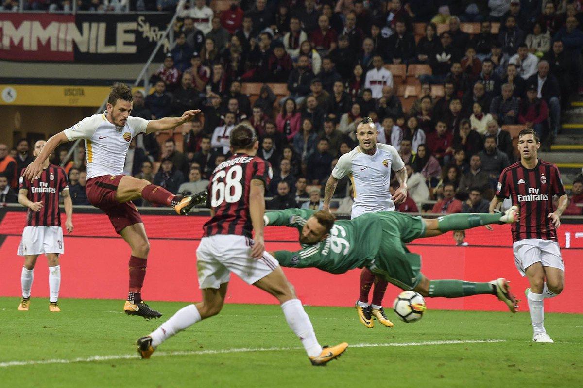 أهداف مباراة روما وميلان 2-0 الدوري الإيطالي
