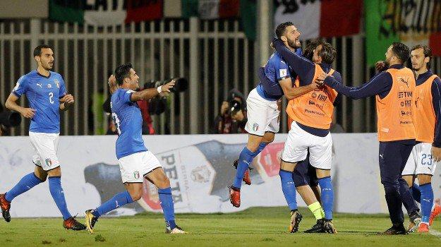 أهداف مباراة إيطاليا وألبانيا 1-0 تصفيات كأس العالم