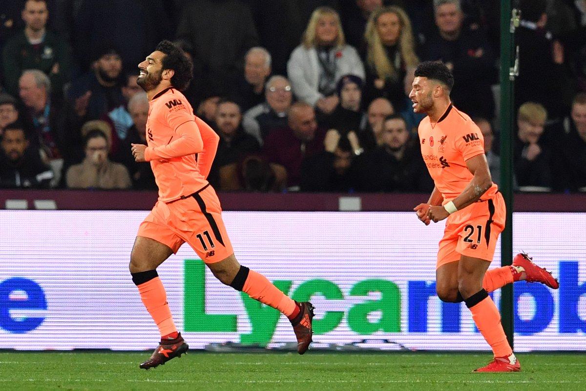 أهداف مباراة ليفربول وويست هام يونايتد 4-1 الدوري الإنجليزي