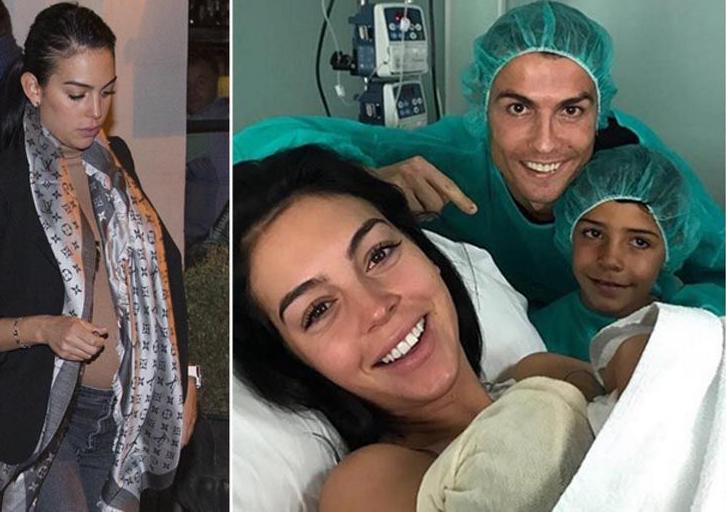 صورة … رونالدو يرزق بمولودة رابعة بعد 4 أشهر من ولادة توأمه