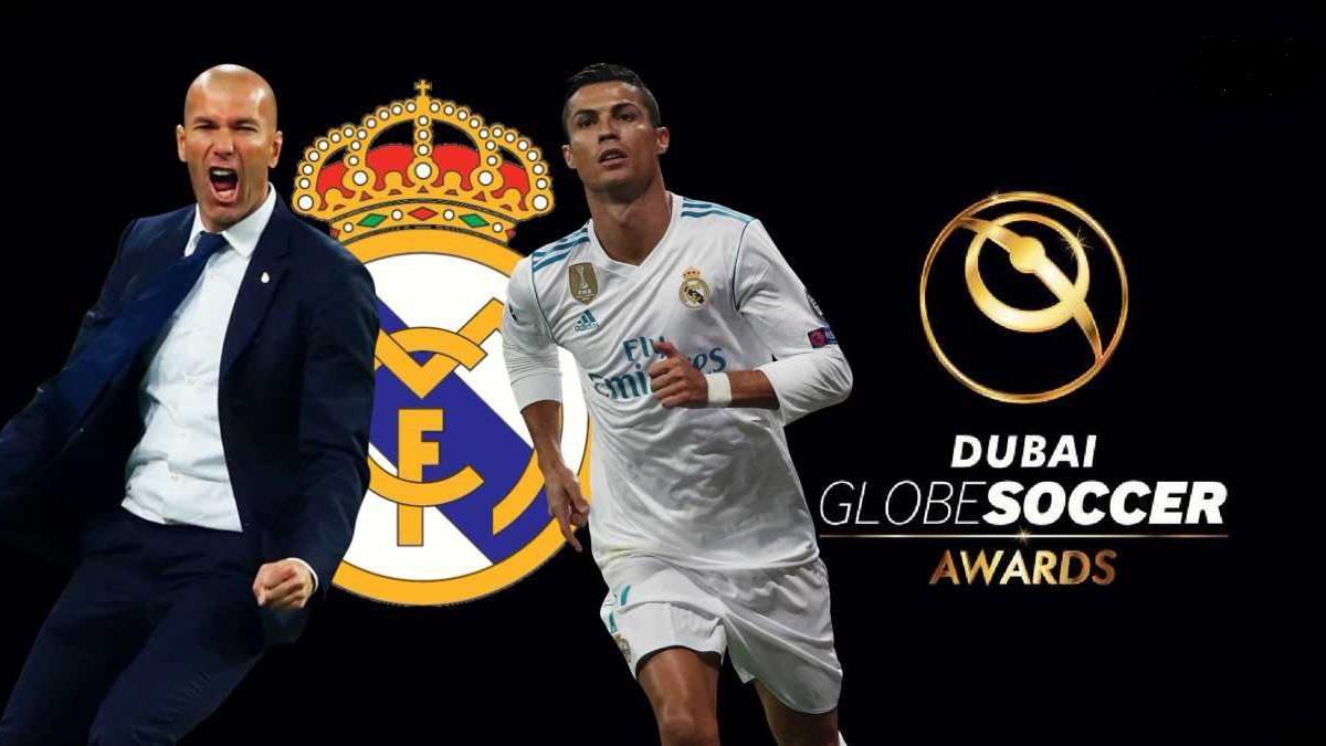 جوائز جلوب سوكر – رونالدو الأفضل في العالم وزيدان أفضل مدرب