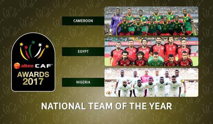 الكشف عن المنتخبات المرشحة لجائزة الأفضل في إفريقيا لعام 2017