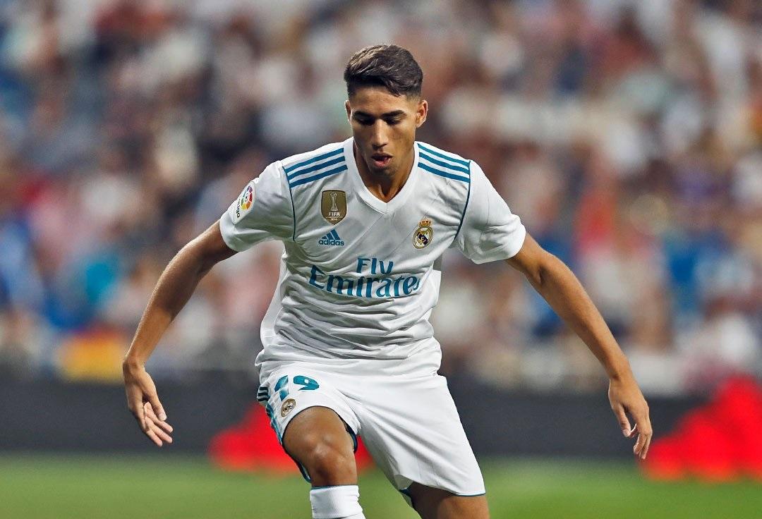 """شاهد …""""أشرف حكيمي"""" أول لاعب عربي يسجل هدفاً مع ريال مدريد"""
