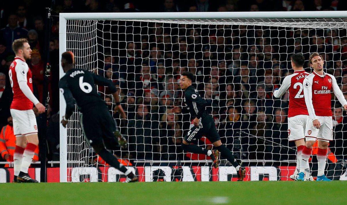 أهداف مباراة مانشستر يونايتد وأرسنال 3-1 الدوري الإنجليزي