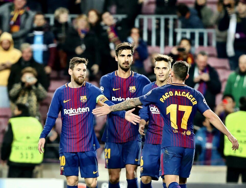 أهداف مباراة برشلونة وسبورتنيغ لشبونة 2-0 دوري الأبطال