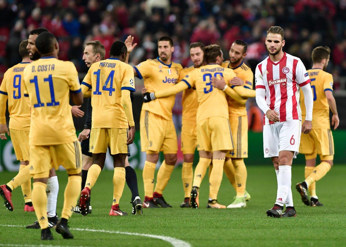 أهداف مباراة يوفنتوس وأوليمبياكوس 2-0 دوري الأبطال