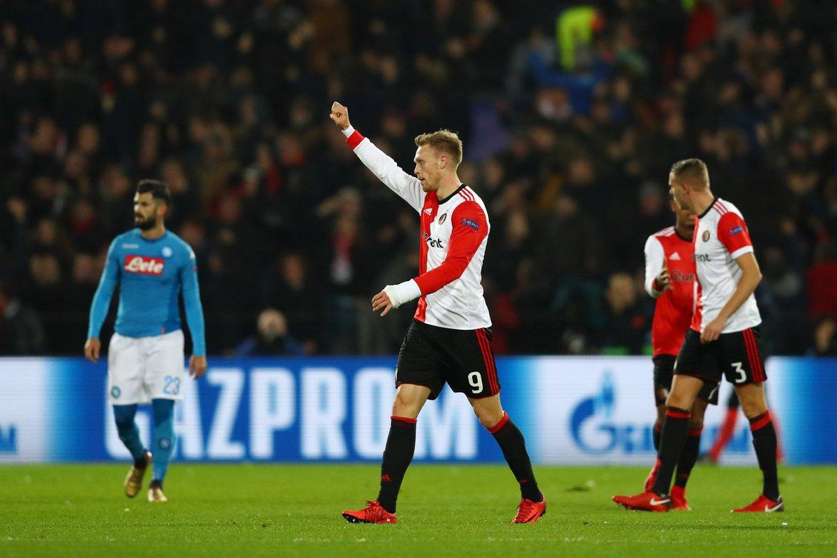 أهداف مباراة فينورد ونابولي 2-1 دوري الأبطال