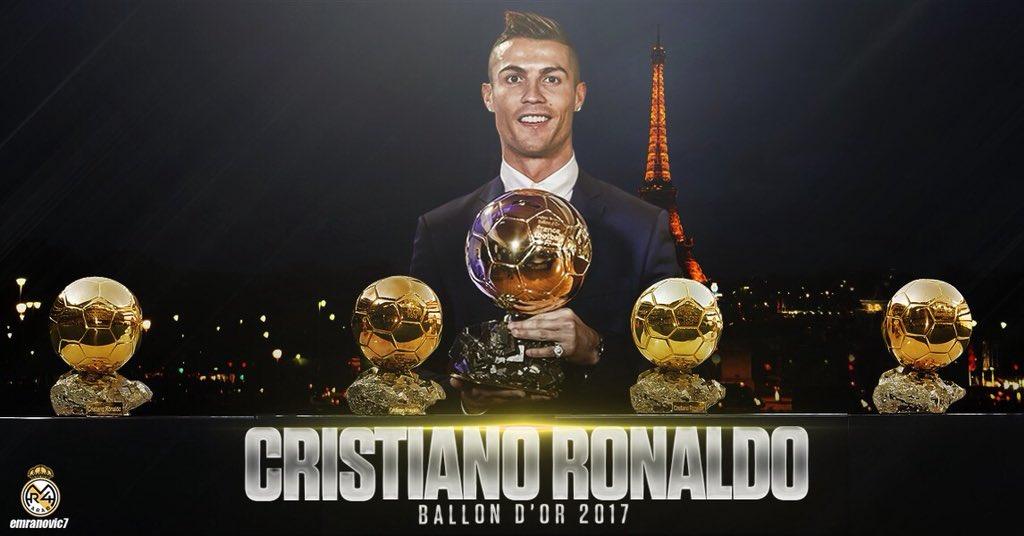رسمياً … كريستيانو رونالدو يفوز بالكرة الذهبية للمرة الخامسة