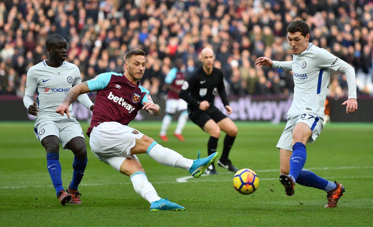 أهداف مباراة ويست هام يونايتد وتشيلسي 1-0 الدوري الإنجليزي